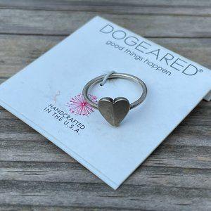 Dogeared Women Ring silver Tone Heart statement La